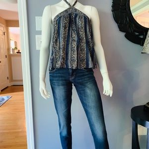 American Eagle flowy tank top with tieback neck